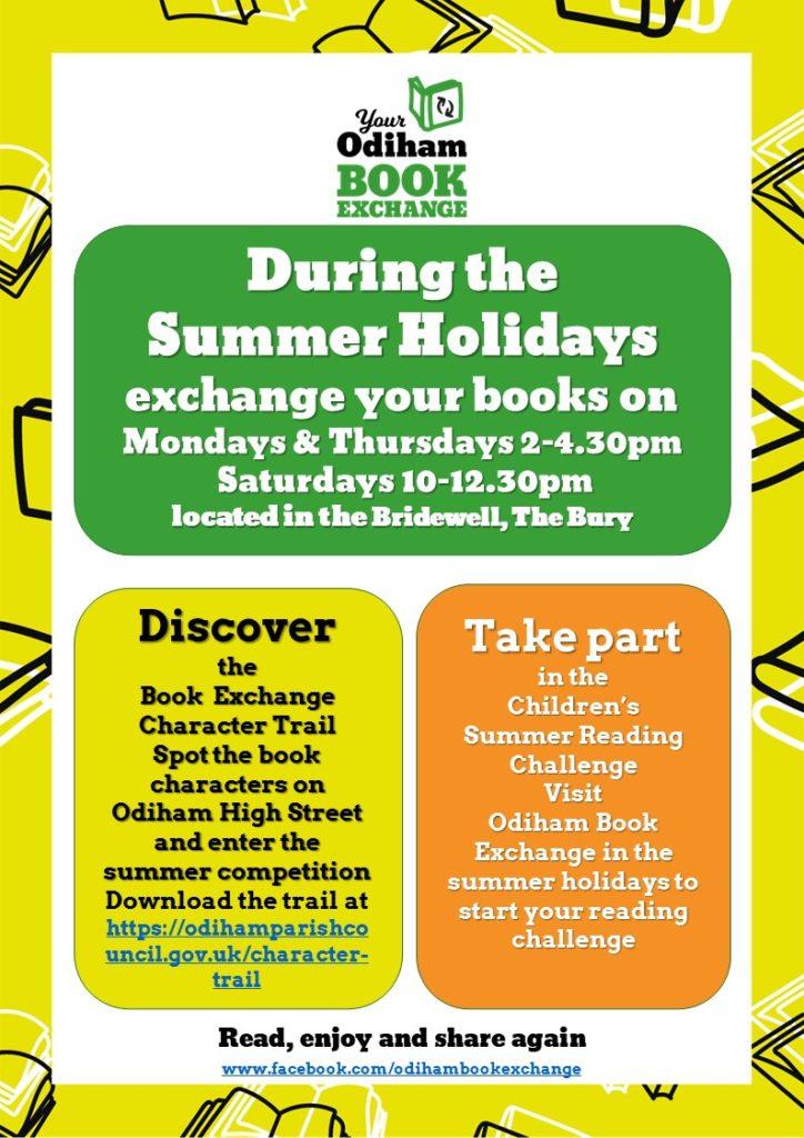 Summer Activities Book Exchange Poster