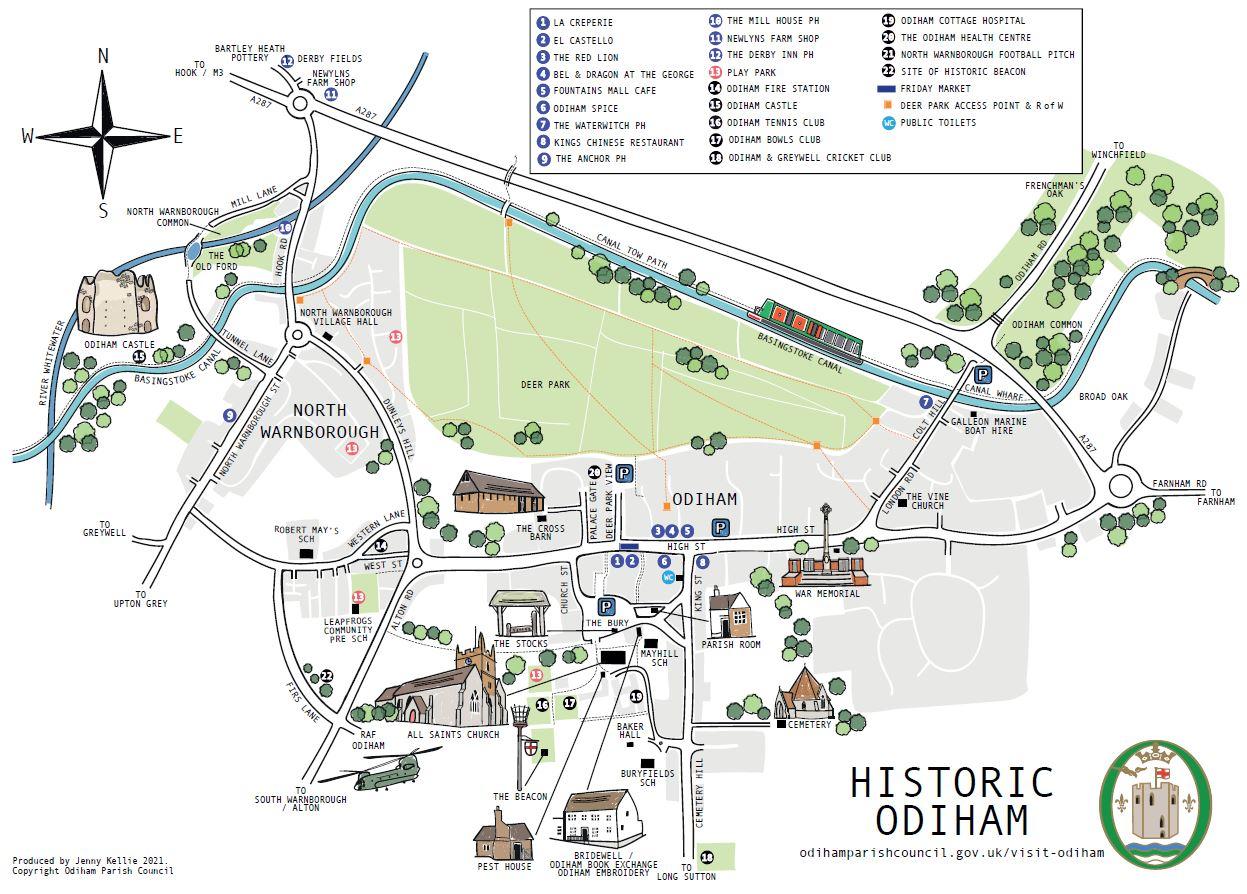 Map of Odiham